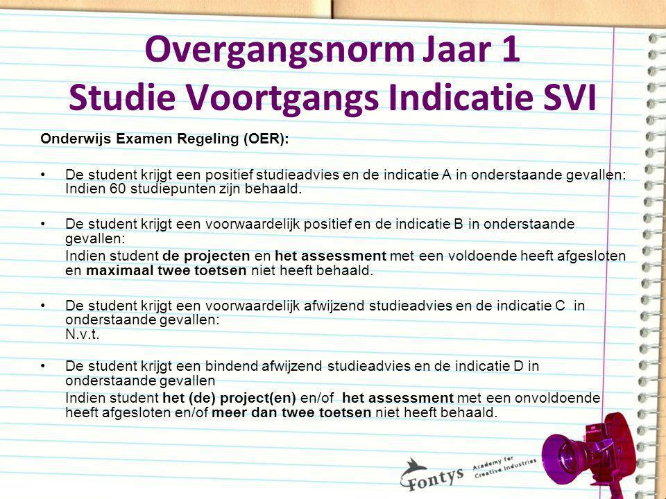 Overgangsnorm Jaar 1 Studie Voortgangs Indicatie SVI