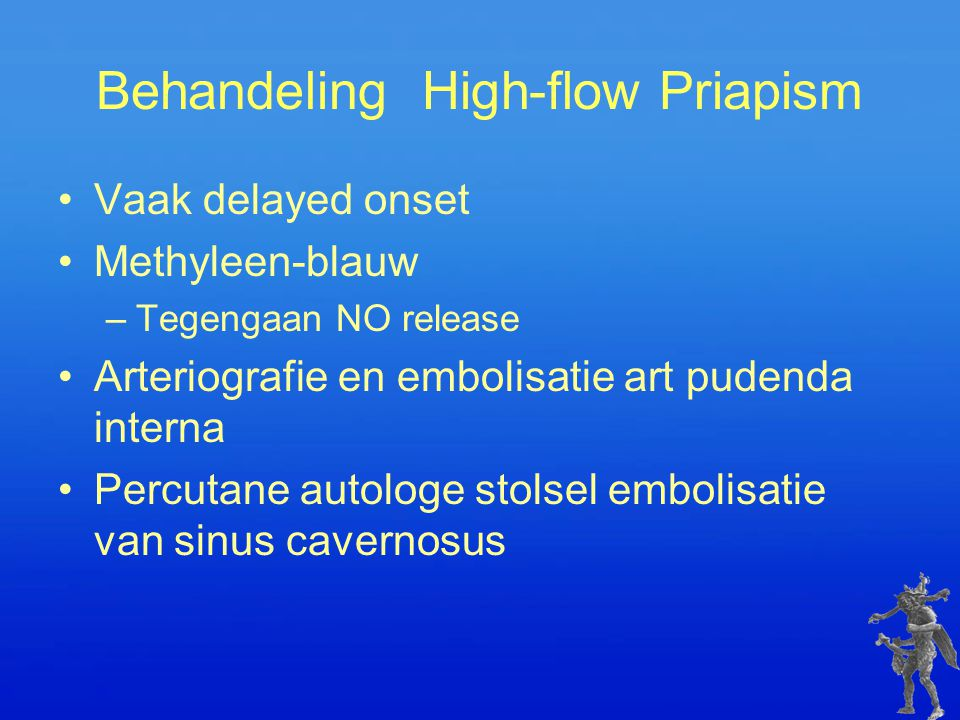 Behandeling High-flow Priapism