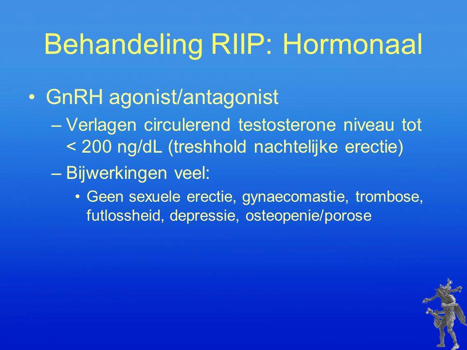 Behandeling RIIP: Hormonaal
