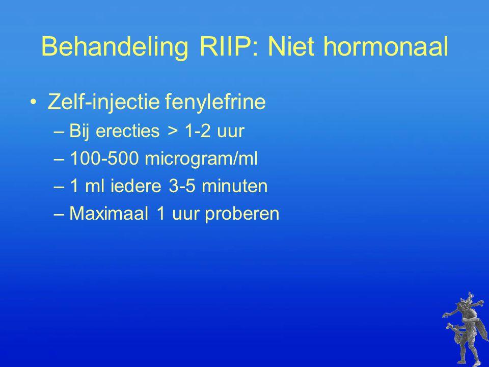 Behandeling RIIP: Niet hormonaal