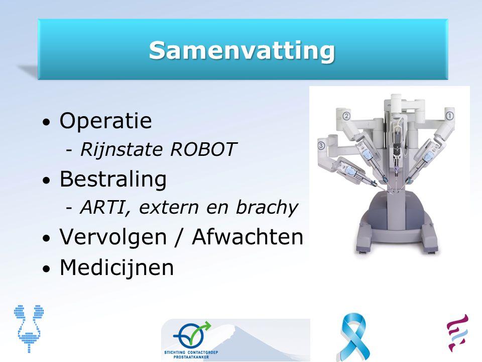Samenvatting Operatie Bestraling Vervolgen / Afwachten Medicijnen