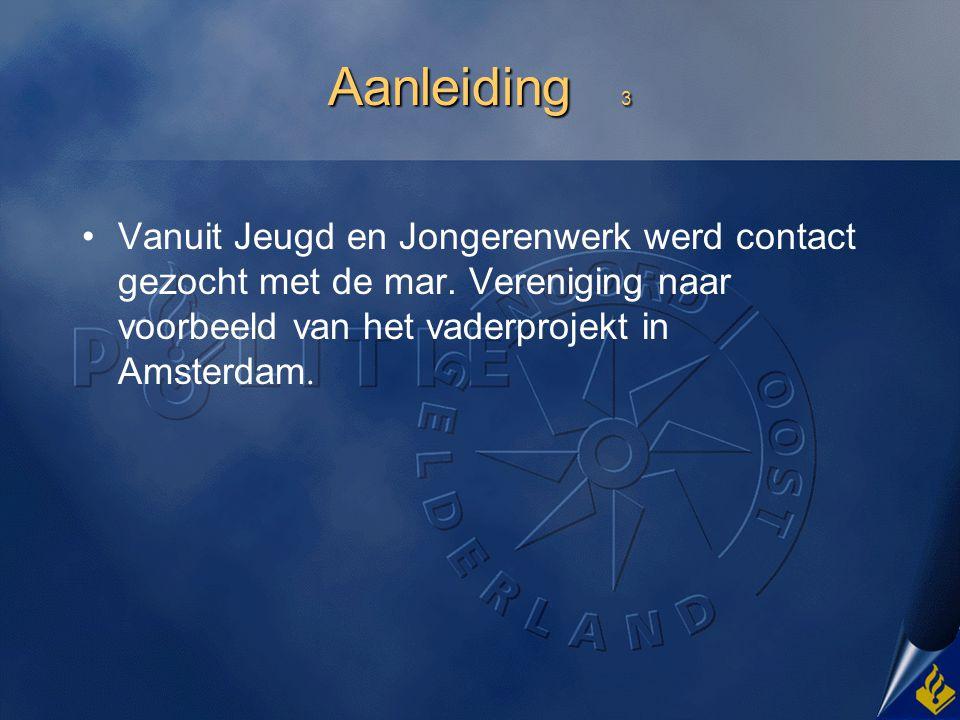 Aanleiding 3 Vanuit Jeugd en Jongerenwerk werd contact gezocht met de mar.