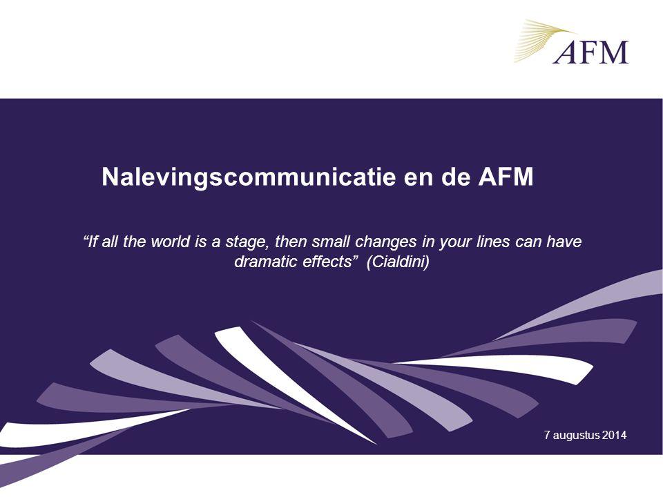 Nalevingscommunicatie en de AFM