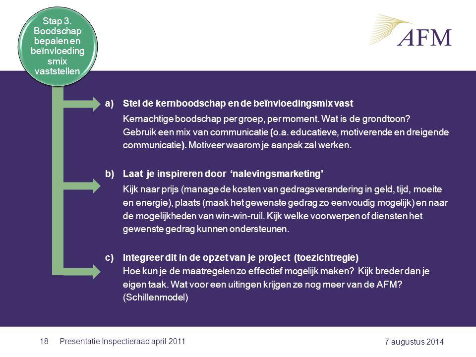 Stap 3. Boodschap bepalen en beïnvloedingsmix vaststellen