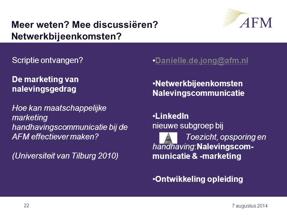 Meer weten Mee discussiëren Netwerkbijeenkomsten