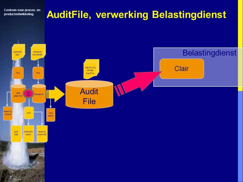AuditFile, verwerking Belastingdienst