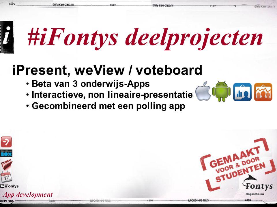 #iFontys deelprojecten