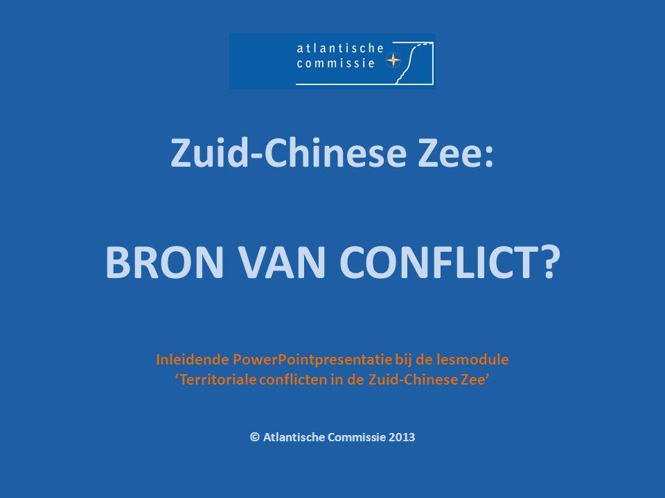 Zuid-Chinese Zee: BRON VAN CONFLICT
