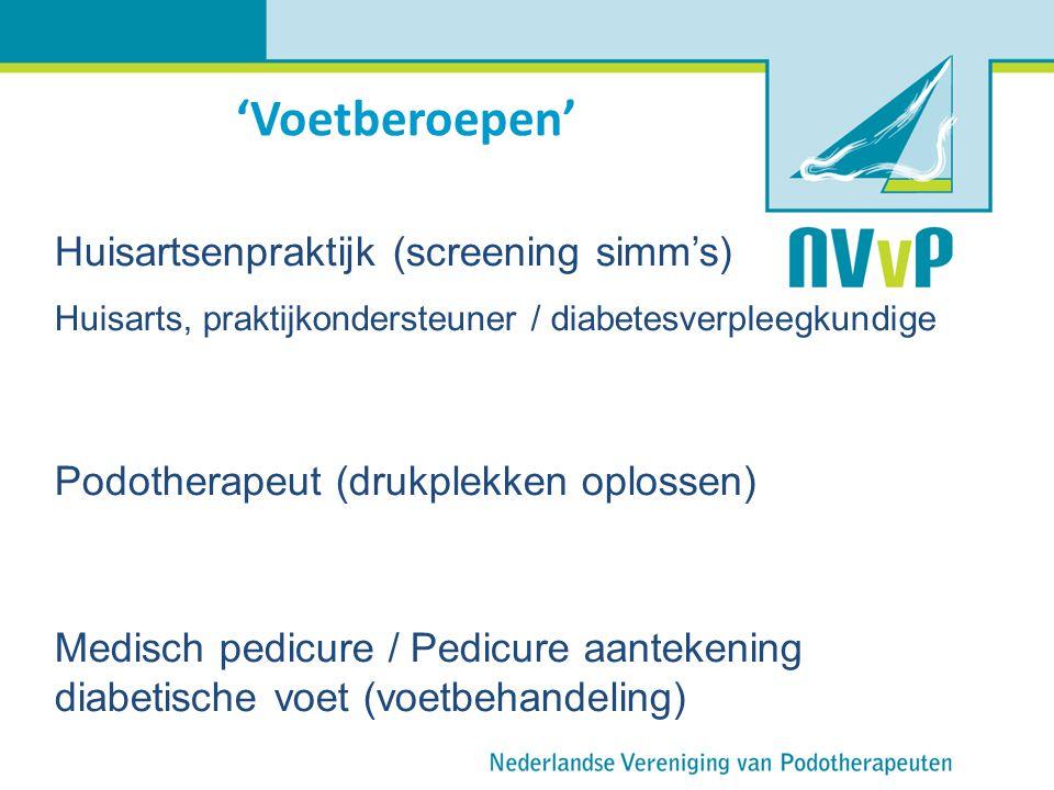 'Voetberoepen' Huisartsenpraktijk (screening simm's)