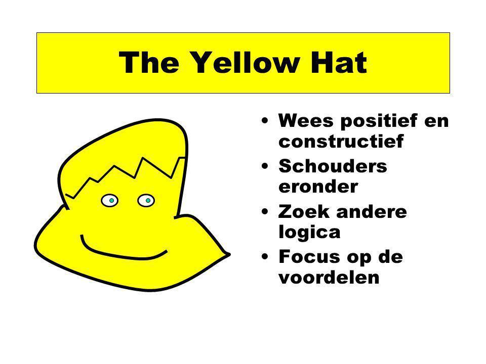 The Yellow Hat Wees positief en constructief Schouders eronder