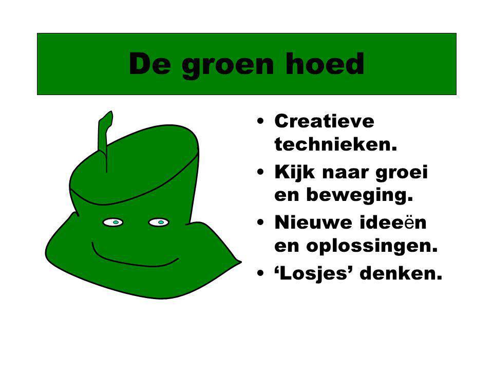 De groen hoed Creatieve technieken. Kijk naar groei en beweging.