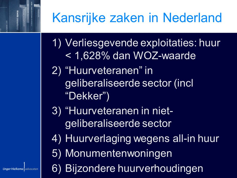 Kansrijke zaken in Nederland