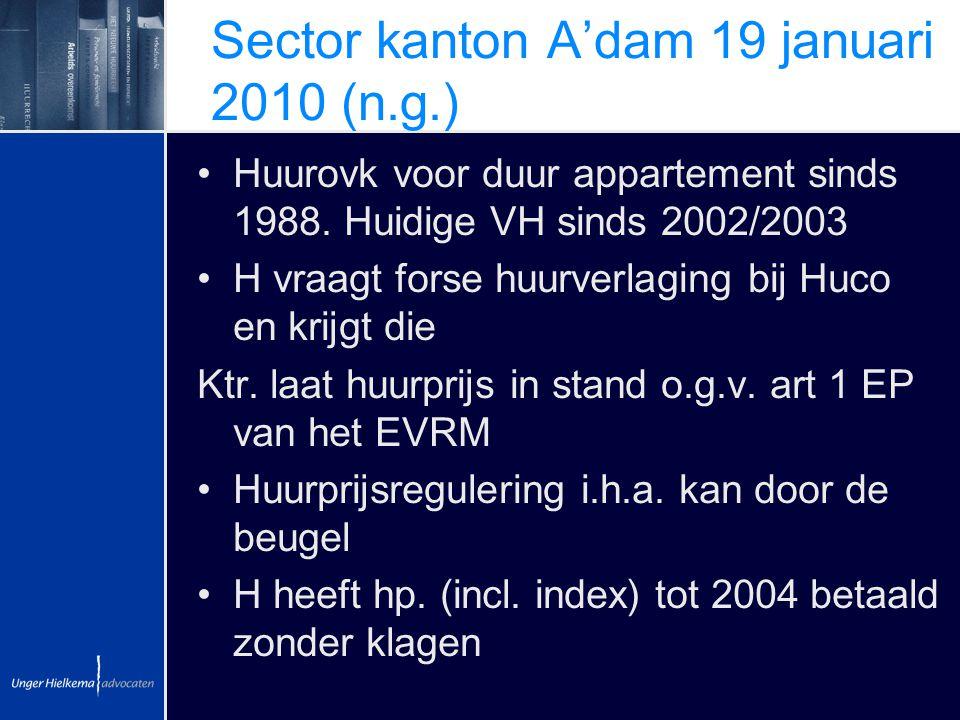 Sector kanton A'dam 19 januari 2010 (n.g.)