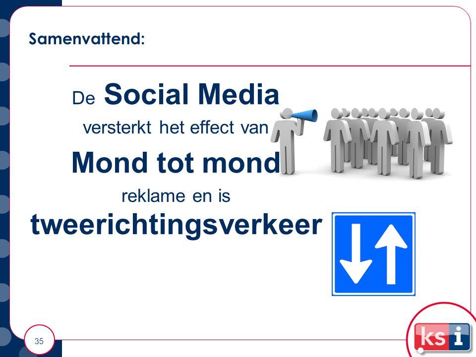 Mond tot mond De Social Media versterkt het effect van