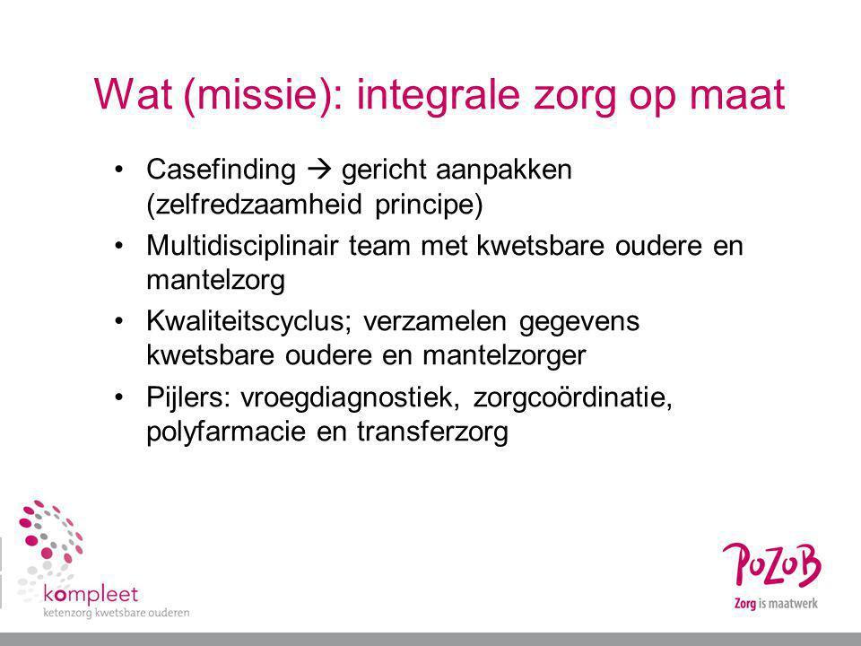 Wat (missie): integrale zorg op maat