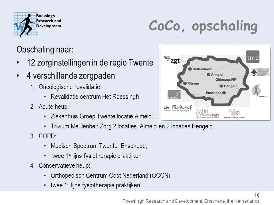 CoCo, opschaling Opschaling naar: