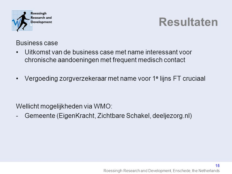 Resultaten Business case
