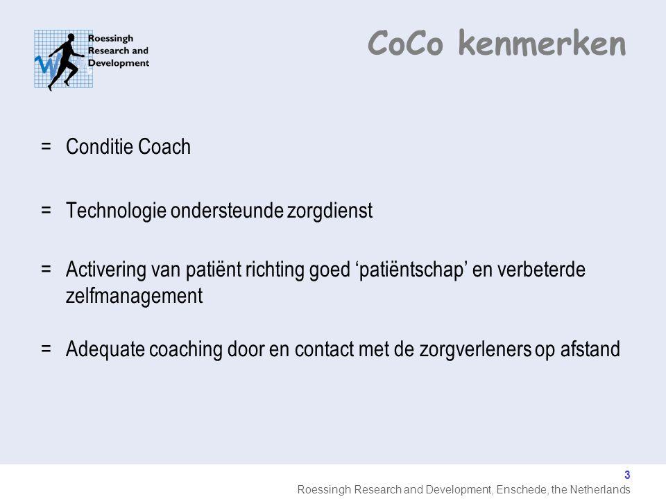CoCo kenmerken Conditie Coach Technologie ondersteunde zorgdienst