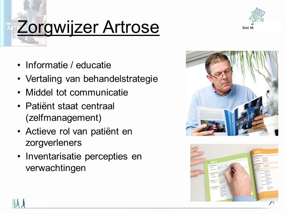Zorgwijzer Artrose Informatie / educatie
