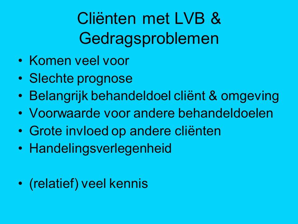Cliënten met LVB & Gedragsproblemen