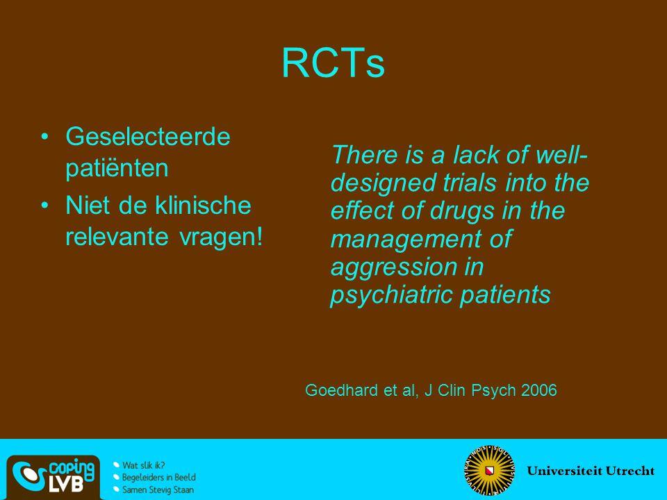 RCTs Geselecteerde patiënten