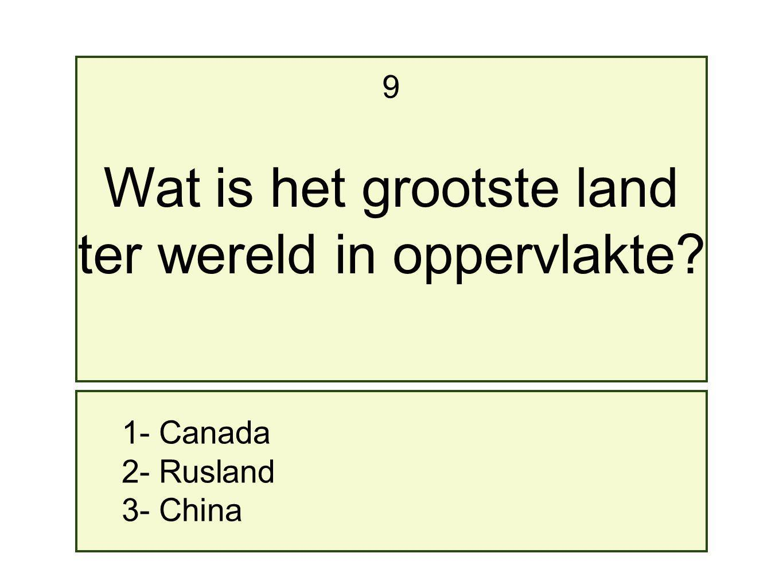 Wat is het grootste land ter wereld in oppervlakte