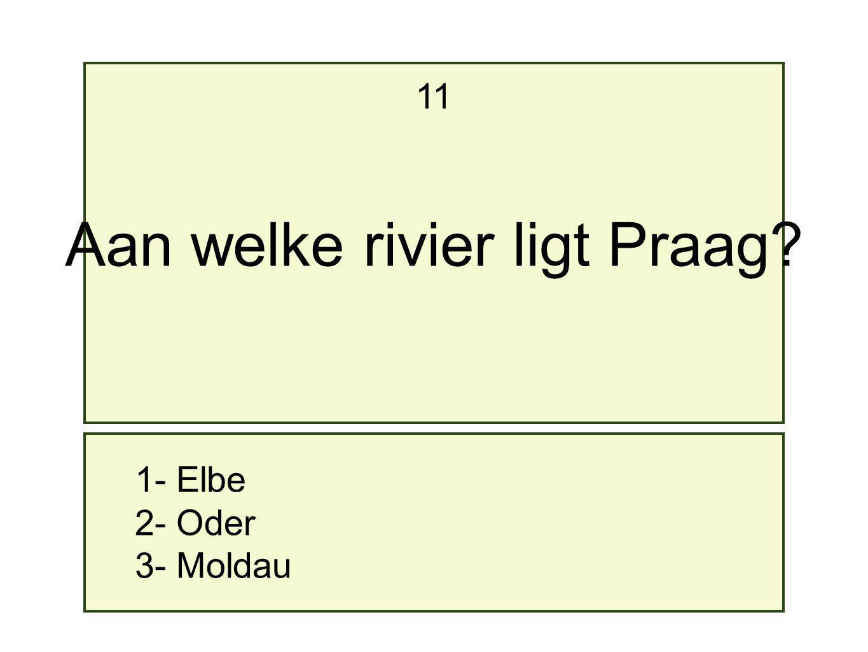 Aan welke rivier ligt Praag