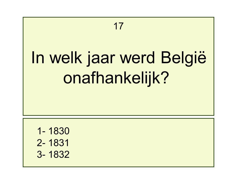 In welk jaar werd België