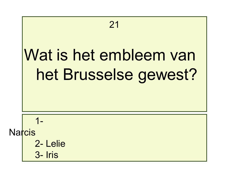 Wat is het embleem van het Brusselse gewest 21 1- Narcis 2- Lelie