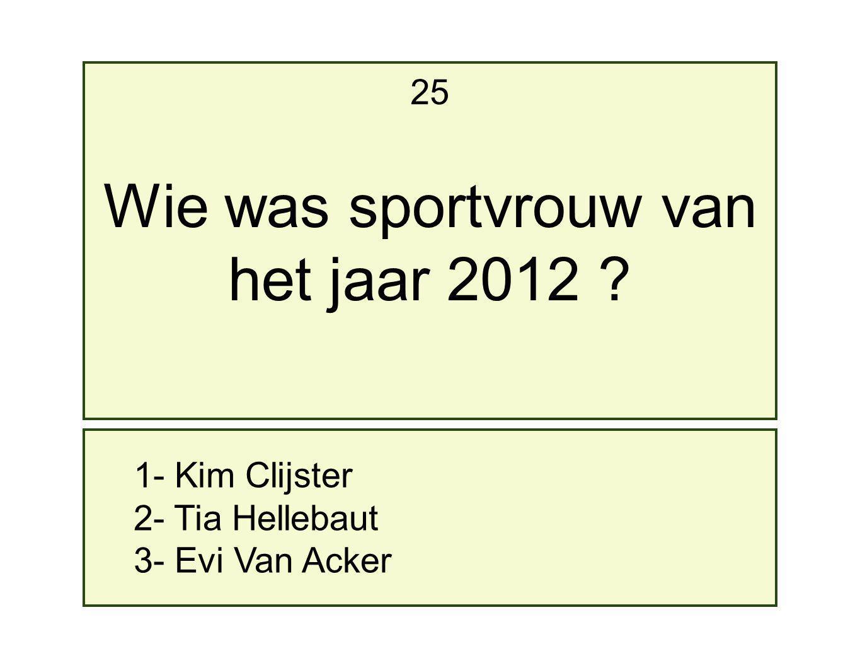 Wie was sportvrouw van het jaar 2012 25 1- Kim Clijster