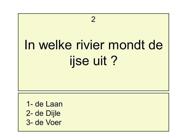 In welke rivier mondt de