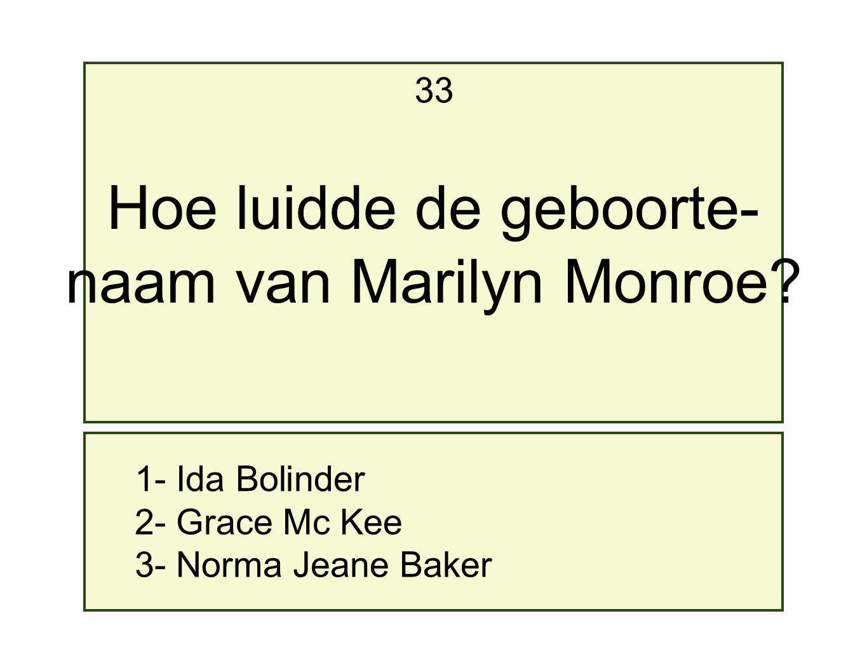Hoe luidde de geboorte- naam van Marilyn Monroe