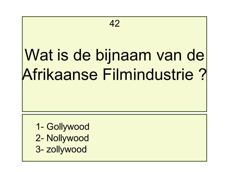 Afrikaanse Filmindustrie
