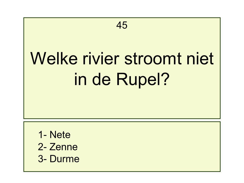 Welke rivier stroomt niet