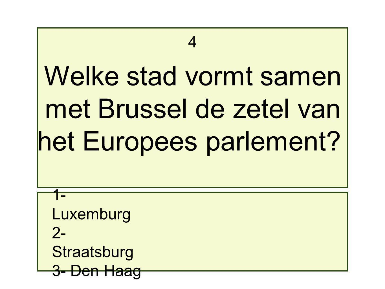 met Brussel de zetel van het Europees parlement