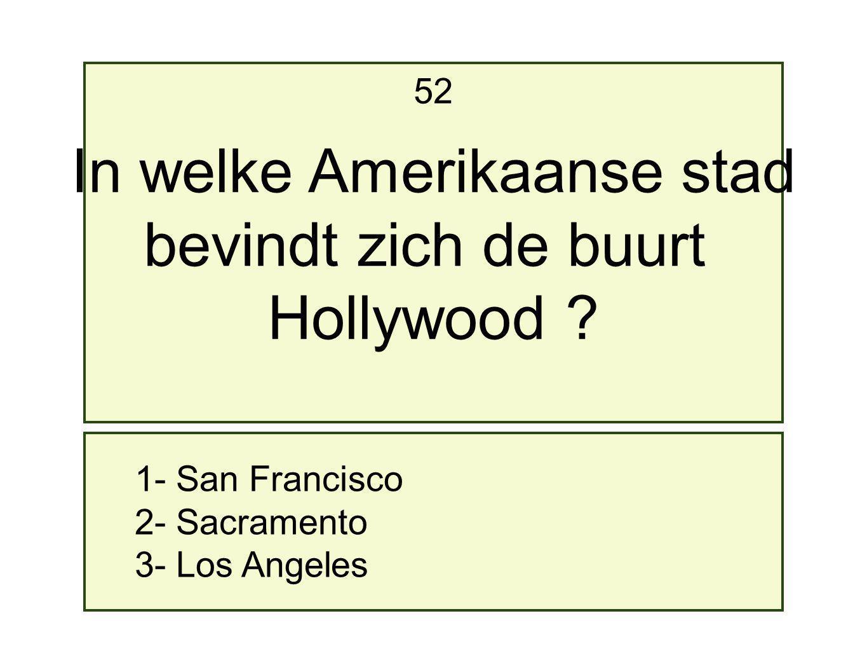 In welke Amerikaanse stad
