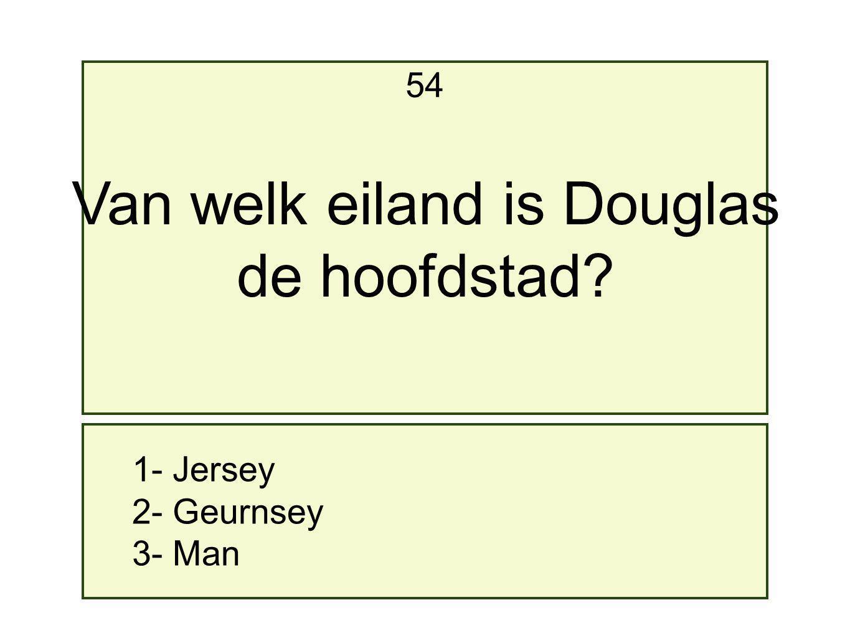 Van welk eiland is Douglas