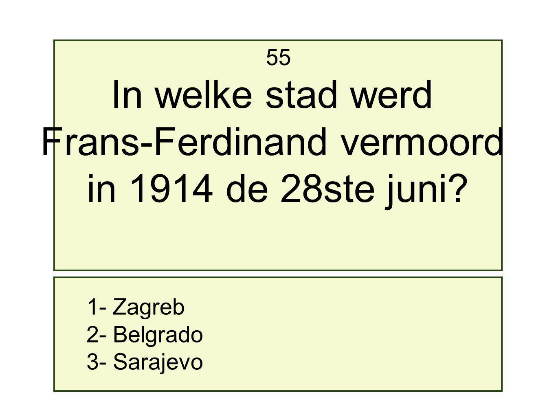 Frans-Ferdinand vermoord