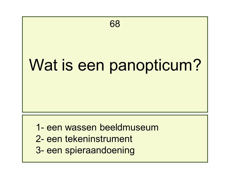 Wat is een panopticum 68 1- een wassen beeldmuseum