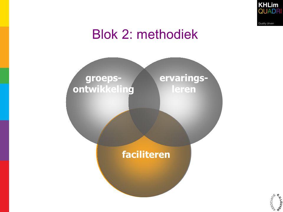 Blok 2: methodiek groeps- ontwikkeling ervarings- leren faciliteren