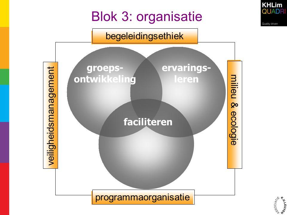 Blok 3: organisatie begeleidingsethiek programmaorganisatie