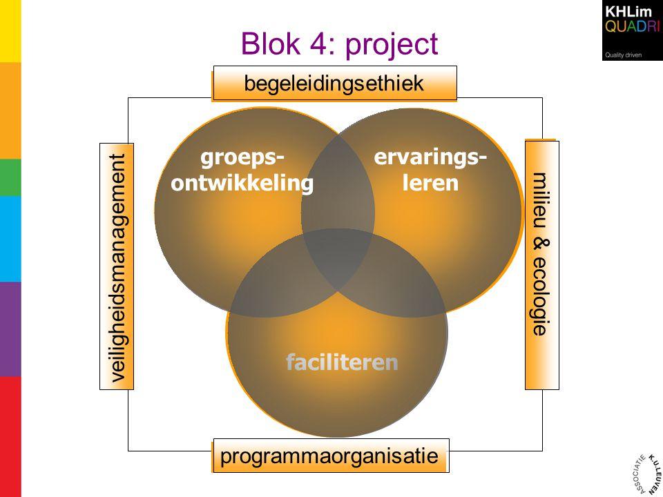 Blok 4: project begeleidingsethiek programmaorganisatie