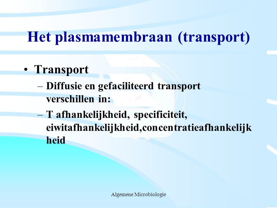 Het plasmamembraan (transport)