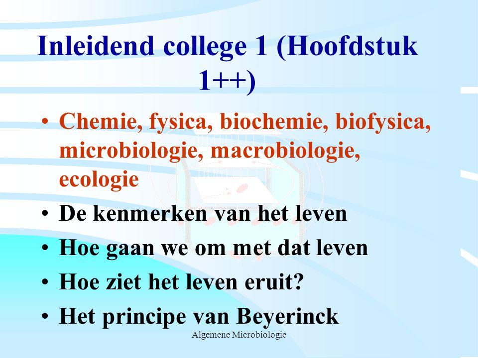 Inleidend college 1 (Hoofdstuk 1++)