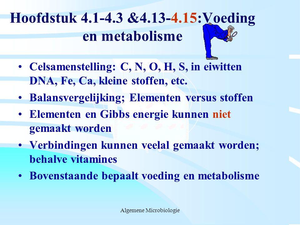 Hoofdstuk 4.1-4.3 &4.13-4.15:Voeding en metabolisme