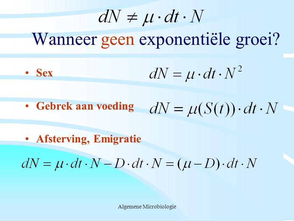 Wanneer geen exponentiële groei