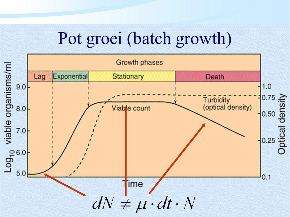 Pot groei (batch growth)