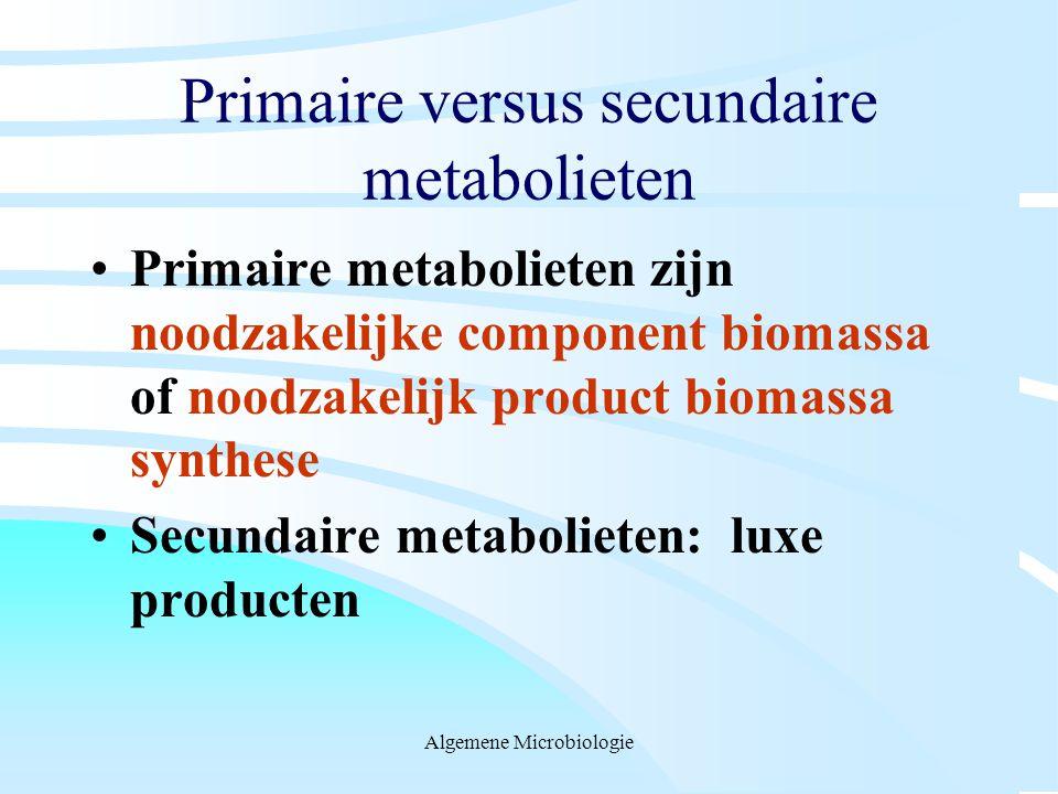 Primaire versus secundaire metabolieten