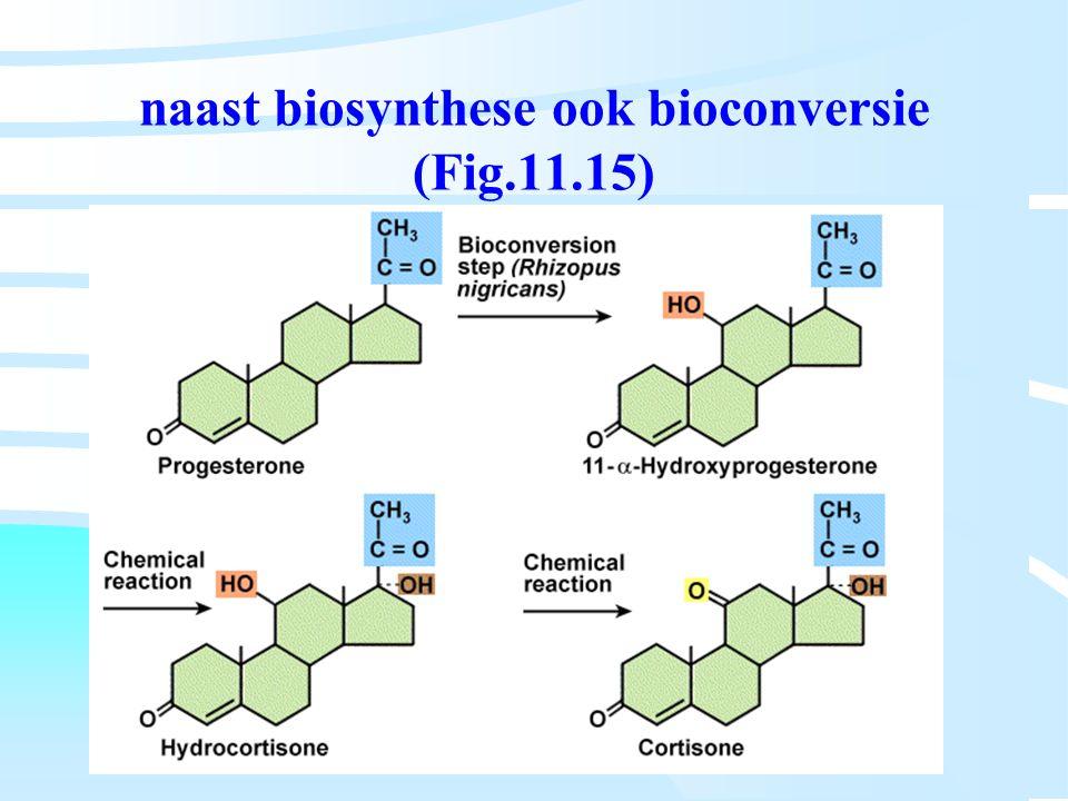 naast biosynthese ook bioconversie (Fig.11.15)