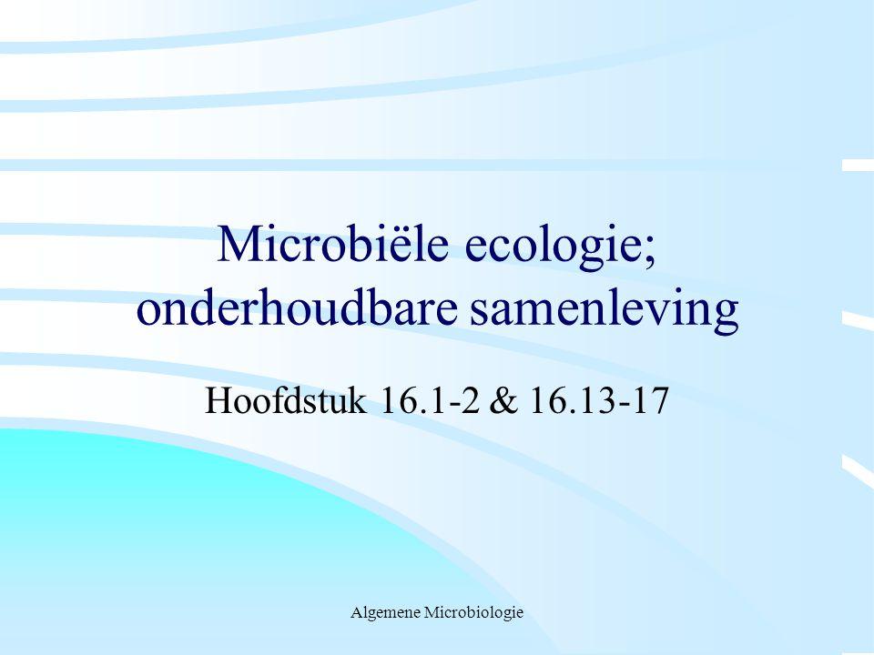 Microbiële ecologie; onderhoudbare samenleving